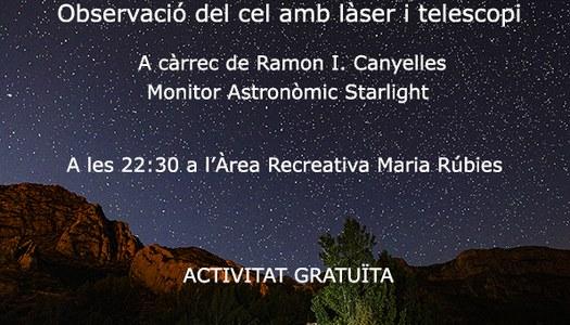Camarasa sota els estels del Montsec, dilluns 5 d'agost, a les 22:30 h.