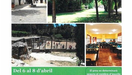 COLÒNIES DE SETMANA SANTA. Granja-Escola Cal Diable. Del 6 al 8 d'abril.