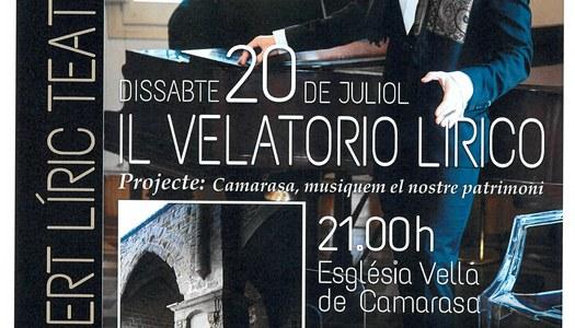 Concert Líric Teatralitzat IL VELATORIO LIRICO Dissabte, 20 de juliol de 2019, a les 21 h.