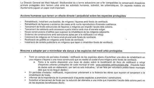 El paper dels Ajuntaments en la conservació de la fauna protegida del medi urbà