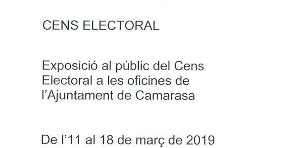 Exposició al públic del cens electoral