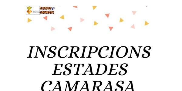 INSCRIPCIO ESTADES DEL CASAL D'ESTIU DE CAMARASA