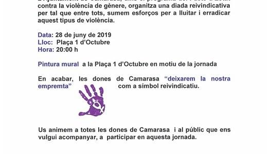 Les dones de Camarasa deixem emprempta, 28 de juny de 2019, a les 20 h.