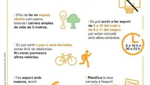 Passejos i activitats físiques a partir del 2 de maig